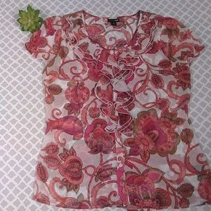 East 5th floral top women's